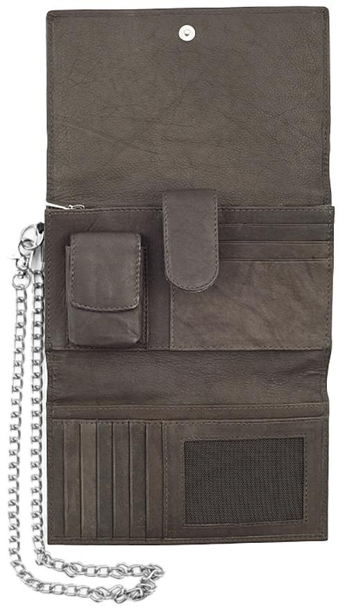 2005129 Бумажник байкера Zippo Bikers Wallet, Leather Mocha - открытый