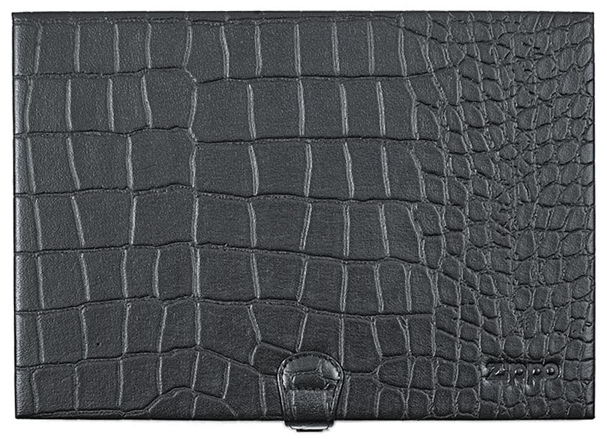 2005131 Кейс Zippo Collectors Case, Genuine Leather - раскрывается книжкой