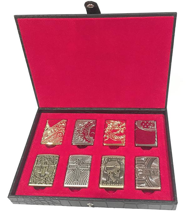 2005131 Кейс Zippo Collectors Case, Genuine Leather - на восемь зажигалок Зиппо