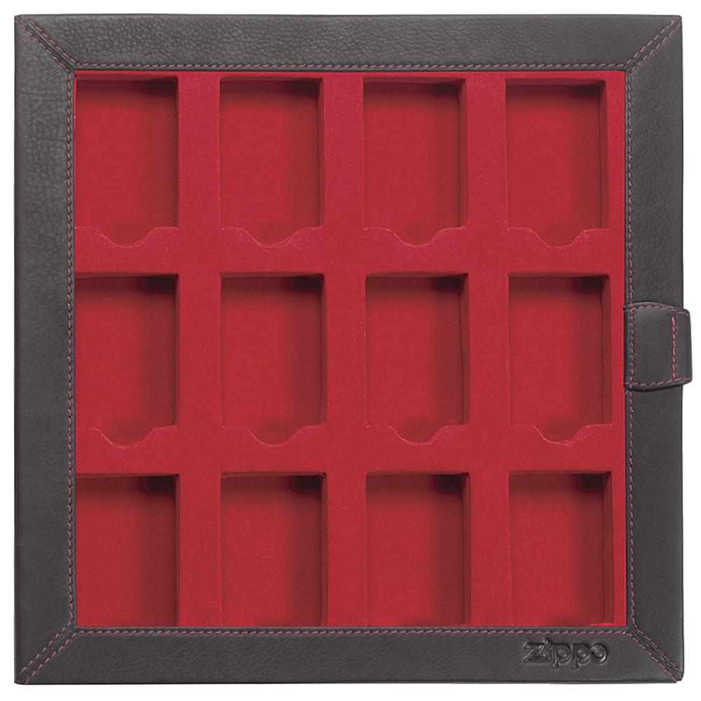 2005422 Кейс для зажигалок Zippo Leather 12 Lighter Display Collector