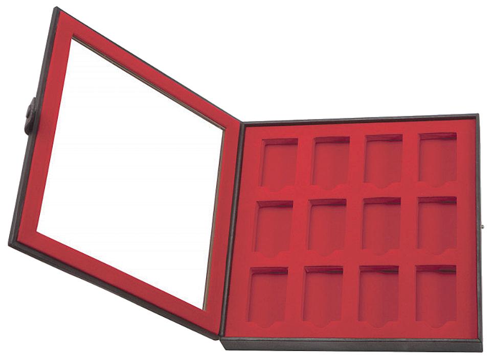 2005422 Кейс для зажигалок Zippo Leather 12 Lighter Display Collector - открывается книжкой