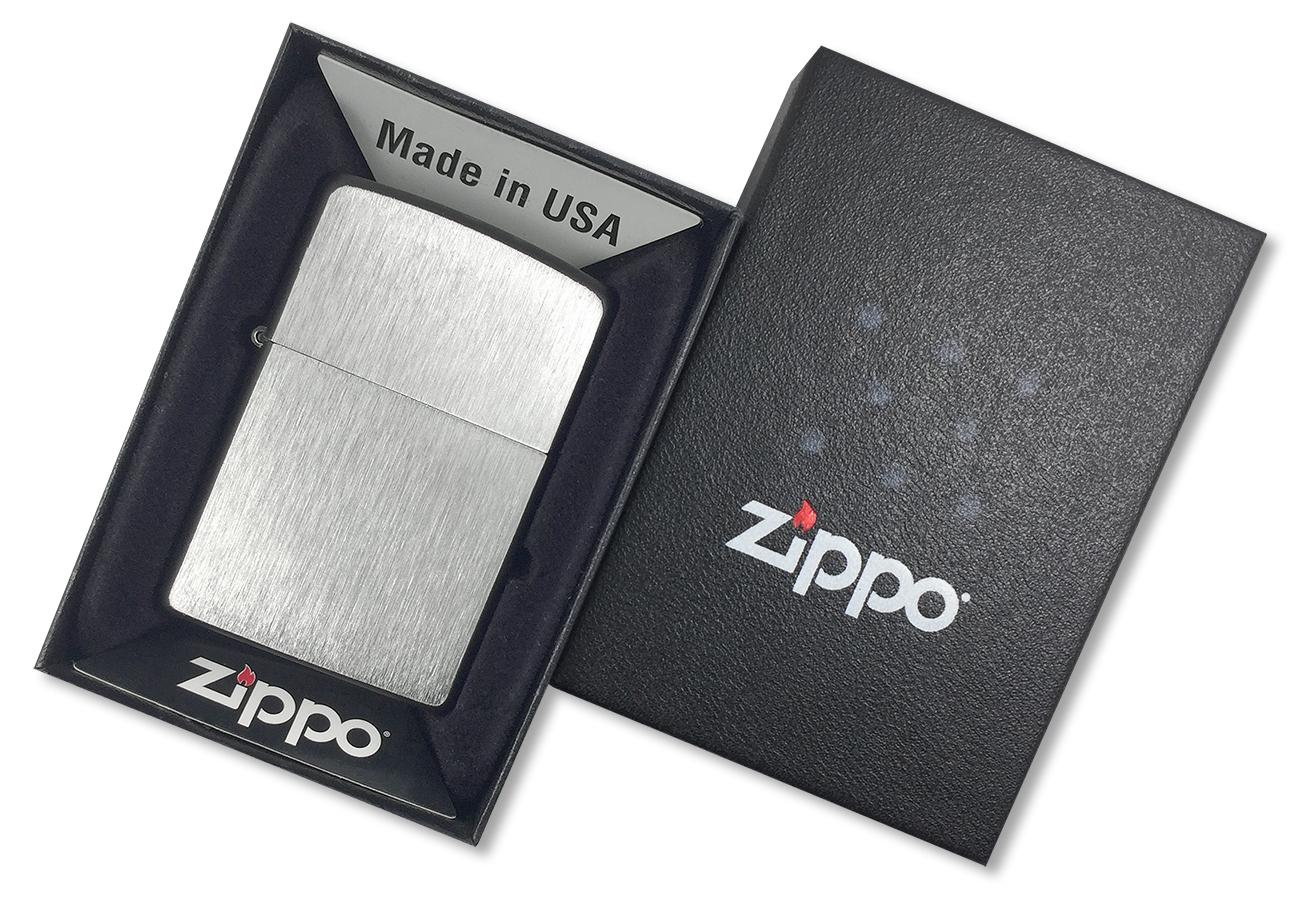 24752 Зажигалка Zippo Framed Chrome, Black Matte - в подарочной коробке