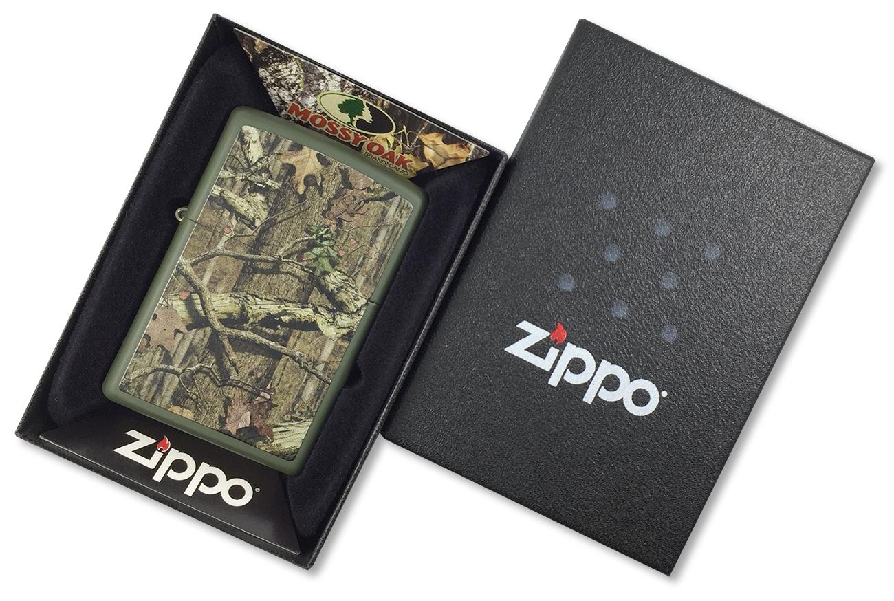 28331 Зажигалка Zippo Mossy Oak Break up Infinity, Green Matte - в подарочной упаковке