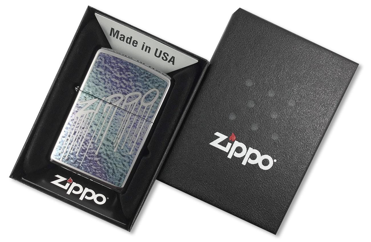 29097 Зажигалка Zippo Fusion Liquid Design, Polish Chrome - в подарочной упаковке