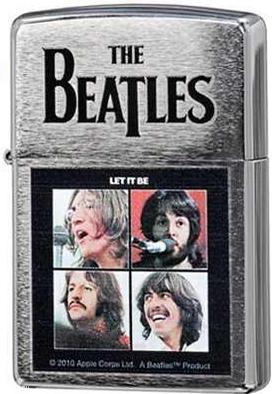 28254 Зажигалка Zippo The Beatles Let It Be, Brushed Chrome