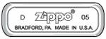 Штамп на донышке зажигалки Зиппо классической модели