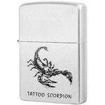 205 Tattoo Scorpion Зажигалка Zippo, Satin Chrome