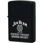 28072 Зажигалка Zippo Jim Beam Kentucky Straight Bourbon Whiskey, Black Matte