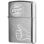 28942 Зажигалка Zippo Quality Assured, Brushed Chrome