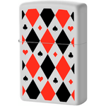 29191 Зажигалка Zippo Poker Patterns, White Matte