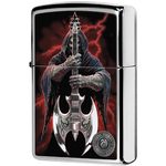 29109 Зажигалка Zippo Anne Stokes Grim Reaper Guitar, Polish Chrome