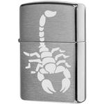 200 Scorpion Зажигалка Zippo, Brushed Chrome