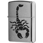 200 Зажигалка Zippo Scorpion Black, Brushed Chrome