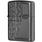 29498 Зажигалка Zippo Old Royal Filigree, Armor Black Ice