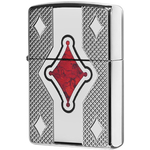 29516 Зажигалка Zippo Geo Design Deep Carved, Polish Chrome