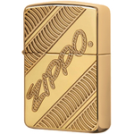 29625 Зажигалка Zippo Coiled, Deep Carved Armor, Polish Brass