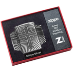 29667 Зажигалка Zippo Armor Celtic Cross Design, Antique Silver