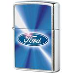 28455 Зажигалка Zippo Ford Blue, Satin Chrome