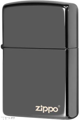 150ZL Зажигалка Zippo Logo, Black Ice