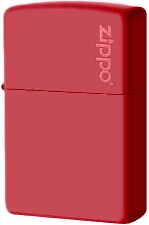 233ZL Зажигалка Zippo Logo, Red Matte