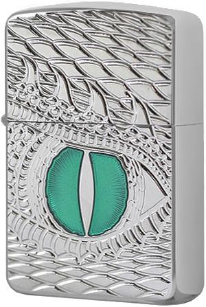 28807 Зажигалка Zippo Armor Dragon Eye, Polish Chrome