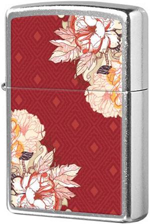 28849 Зажигалка Zippo Flowers Boho, Street Chrome