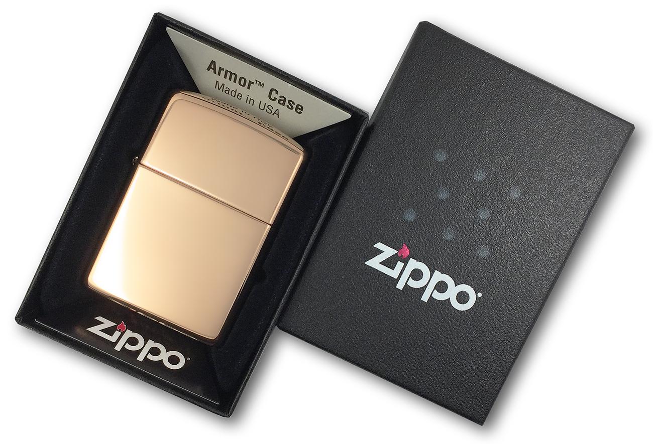 169 Зажигалка Zippo Armor, Polish Brass в фирменной подарочной упаковке