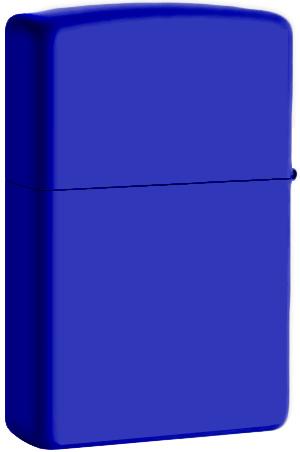 229 Зажигалка Zippo Royal Blue Matte обратная сторона