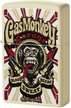 29057 Зажигалка Zippo Gas Monkey Garage, Cream Matte