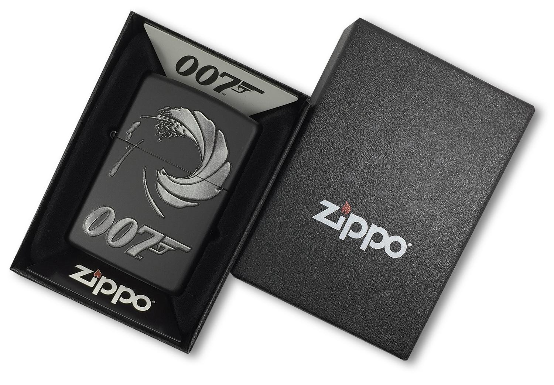 29566 Зажигалка Zippo James Bond 007, Black Matte в открытой коробке