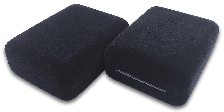 Бархатная коробочка - вид спереди и со стороны петли