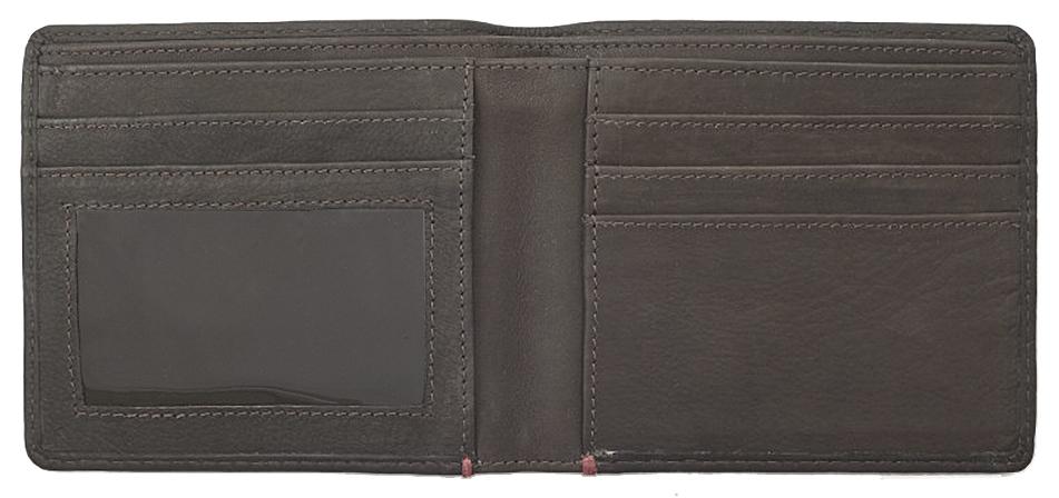 2005116 Портмоне Zippo Mocha Genuine Leather Bi-fold - раскрывается книжкой