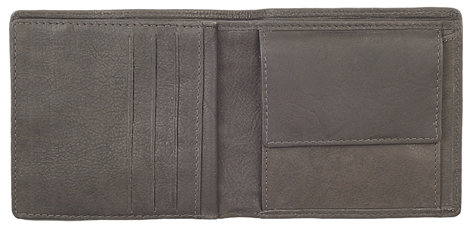 2005120 Портмоне Zippo Canvas and Leather Bi-fold, с монетницей - раскрывается книжкой