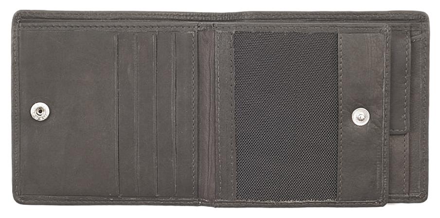 2005120 Портмоне Zippo Canvas and Leather Bi-fold, с монетницей - внутренний карман на кнопке