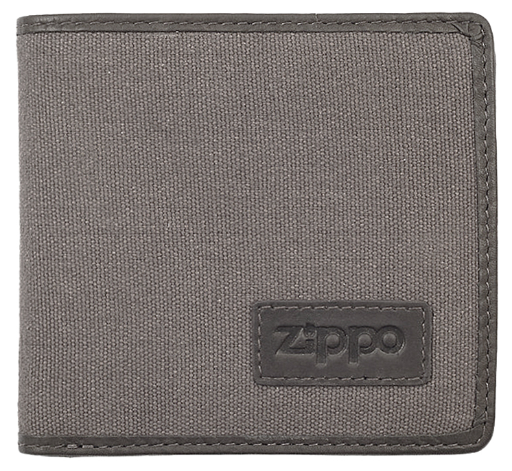 2005120 Портмоне Zippo Canvas and Mocha Leather Bi-fold, с монетницей
