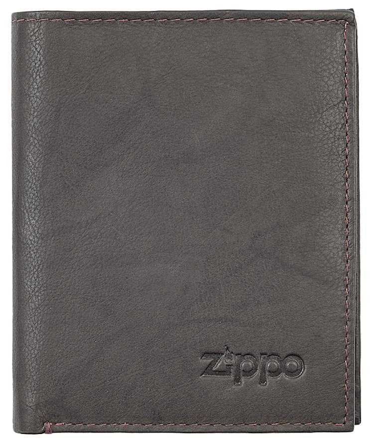 2005121 Портмоне Zippo Vertical Wallet Bi-fold Leather Mocha