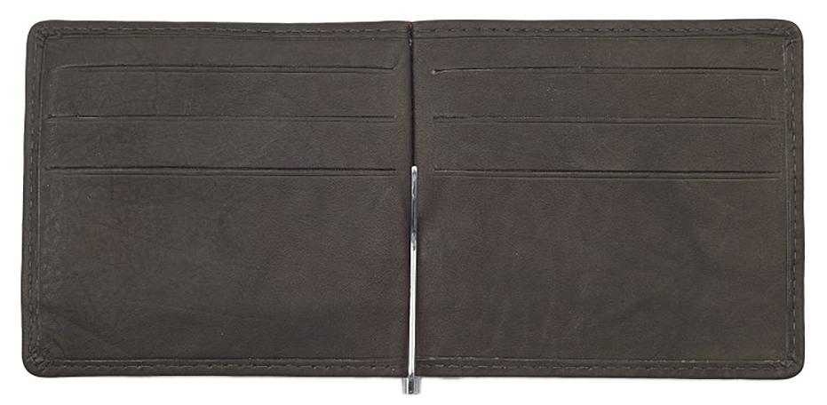2005125 Зажим для денег Zippo Money Clip Wallet, Mocha Leather Bi-Fold - раскрывается книжкой