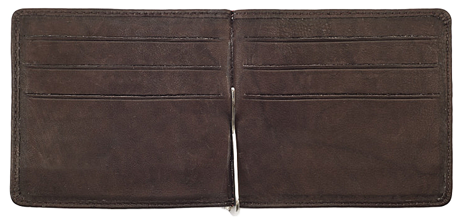 2005126 Зажим для денег Zippo Money Clip Wallet, Leather Bi-Fold - раскрывается книжкой