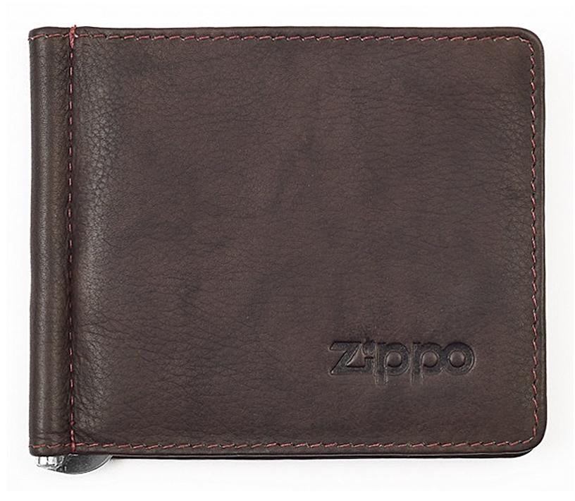 2005126 Зажим для денег Zippo Money Clip Wallet, Leather Bi-Fold