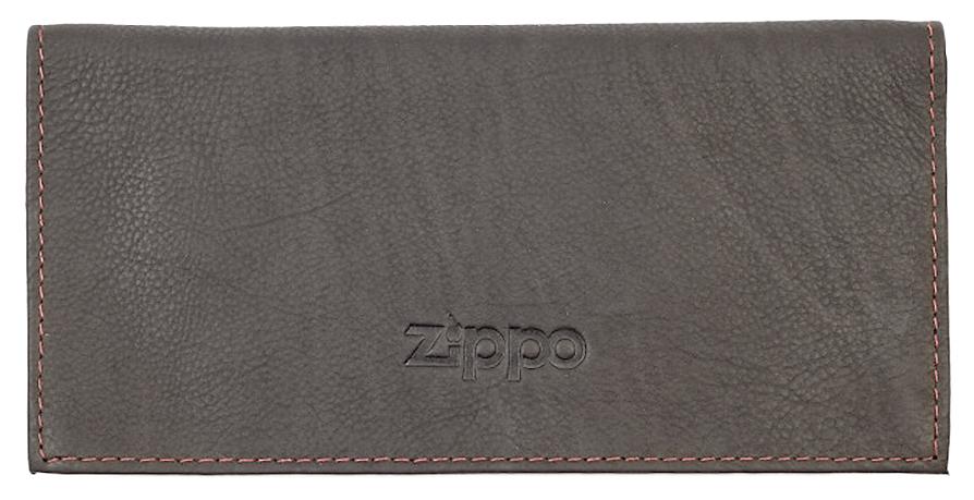 2005130 Кисет для табака Zippo Tobacco Pouch, Mocha Leather Tri-fold