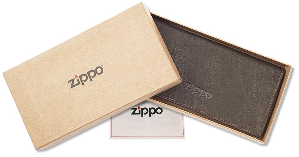 2005130 Кисет для табака Zippo Tobacco Pouch, Mocha Leather Tri-fold - подарочная упаковка