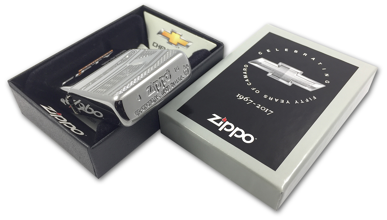 29478 Зажигалка Zippo Chevy Camaro-50th Anniversary, Armor Polish Chrome - заводской штамп на дне зажигалки