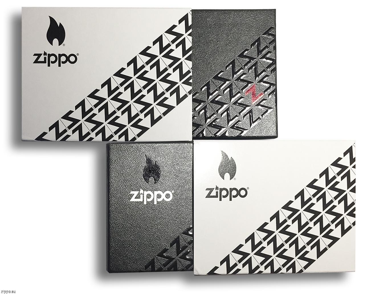 29674 Зажигалка Zippo Armor Zipper Design, Polish Chrome - коллекционная подарочная упаковка